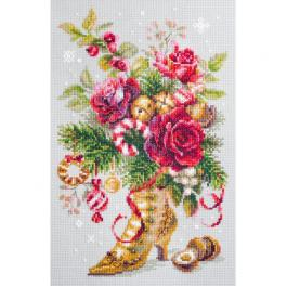 MN 100-270 Cross stitch kit - Christmas surprise