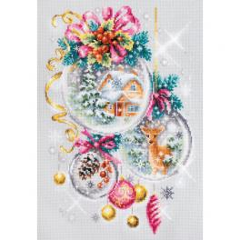 MN 100-247 Cross stitch kit - Christmas fairy tale