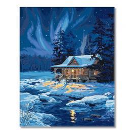 VPN-0189056 Painting by numbers - Moonlit cabin