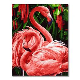 GX34305 Painting by numbers - Exotic flamingos