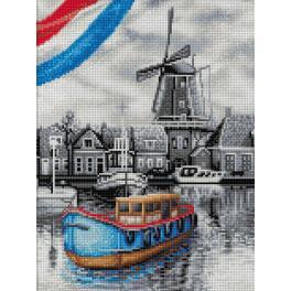 M AZ-1749 Diamond painting kit - Dutch river