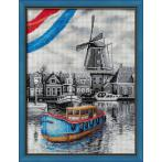 M AZ-1749 Diamond painting kit - Dutch river