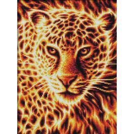 M AZ-1849 Diamond painting kit - Fire leopard
