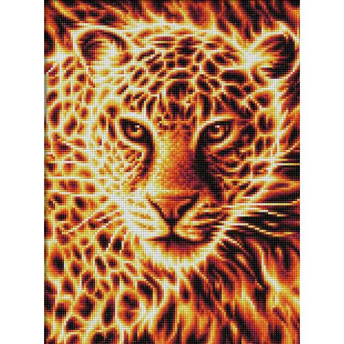 M AZ-1849 Diamond painting kit - Fire leopard