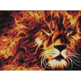 M AZ-1851 Diamond painting kit - Fire lion