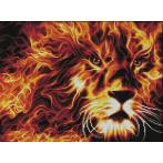 M AZ-1851 Diamond painting kit - Fire lion