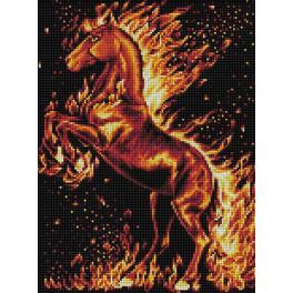 M AZ-1850 Diamond painting kit - Fire horse
