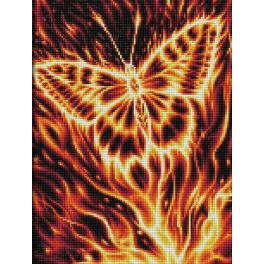 M AZ-1854 Diamond painting kit - Fire butterfly