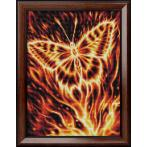 M AZ-1854 Diamond painting kit - Fire butterfly