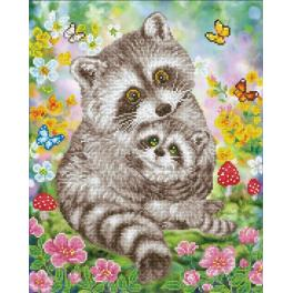 DD9.054 Diamond painting kit - Sweet racoons