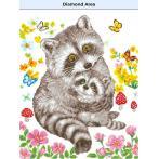 DD9.054 Diamond painting kit - Sweet racoons