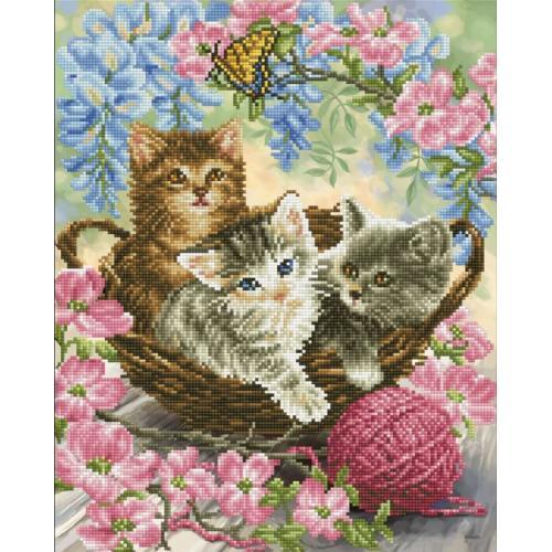 DD10.035 Diamond painting kit - Kitty knits