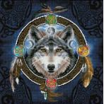 DD12.049 Diamond painting kit - Celtic wolf guide