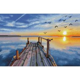 DD12.051 Diamond painting kit - Sunset jetty
