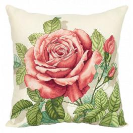 PAPD 7116 Cross stitch set - Pillow - Vintage rose