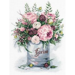 PAC 7050 Cross stitch kit - Watercolour bouquet