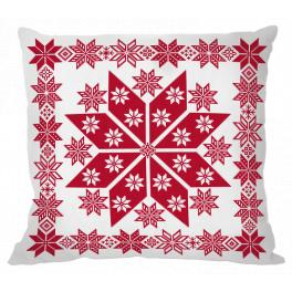 ZU 10653 Cross stitch kit - Norwegian pillow