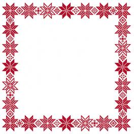 GU 10652 Cross stitch pattern - Norvegian napkin