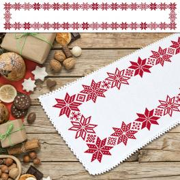 ZU 10651 Cross stitch kit - Long norvegian table runner