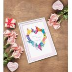 ZN 10650 Cross stitch kit with tapestry - Heart in buterflies