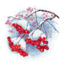 ZN 10307 Cross stitch kit with tapestry - Winter mountain ash