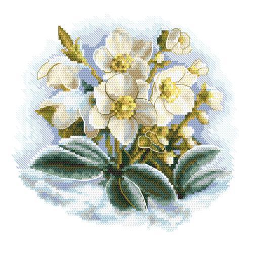 W 10306 ONLINE pattern pdf - Winter flower