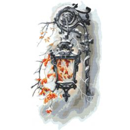 ZN 10447 Cross stitch kit with tapestry - Old lantern