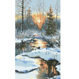 ZN 10304 Cross stitch kit with tapestry - Winter sunset