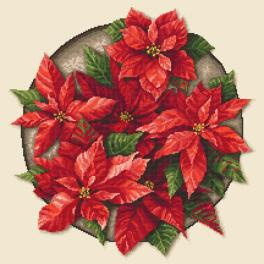 ZN 10648 Cross stitch kit with tapestry - Poinsettia