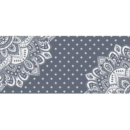 W 10623-04 ONLINE pattern pdf - Table runner with a rosette