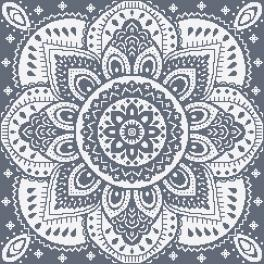 W 10623-03 ONLINE pattern pdf - Napkin with a rosette