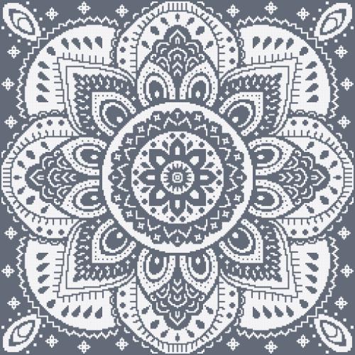 GU 10623-03 Cross stitch pattern - Napkin with a rosette