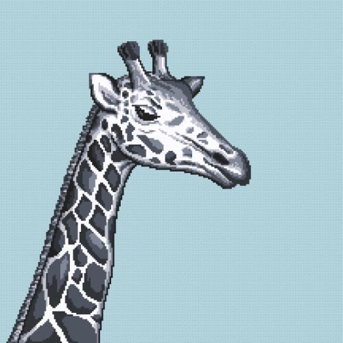 W 10657 ONLINE pattern pdf - Black and white giraffe