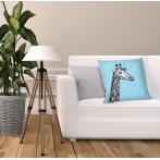 W 10657-01 ONLINE pattern pdf - Pillow - Black and white giraffe