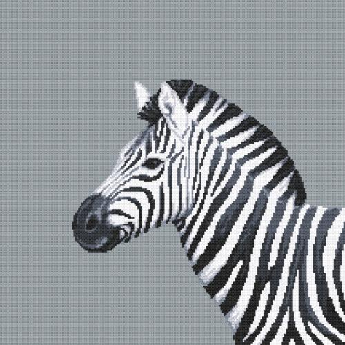 W 10656 ONLINE pattern pdf - Black and white zebra