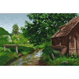 K 4026 Tapestry canvas - Cottage in the countryside - E. Zetsche