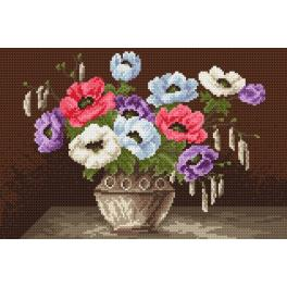 K 4016 Tapestry canvas - Anemones in the vase