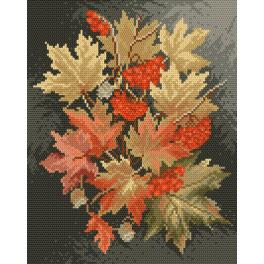 K 4017 Tapestry canvas - Autumn leaves