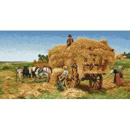K 742 Tapestry canvas - Haymaking