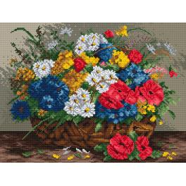 K 895 Tapestry canvas - Wild flowers