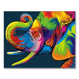 GEX5330 Painting by numbers - Rainbow elefant
