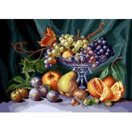 GC 7081 Cross stitch pattern - Still life - fruit bowl
