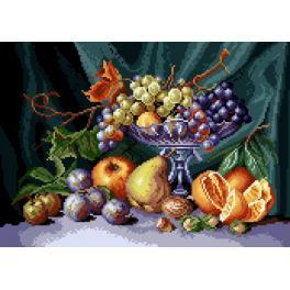 K 7081 Tapestry canvas - Still life - fruit bowl