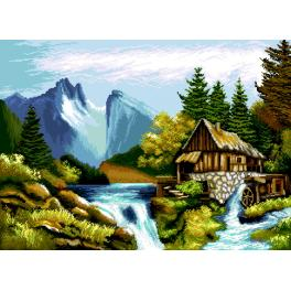 K 7289 Tapestry canvas - Mountain landscape