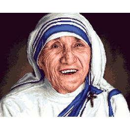 GC 7315 Cross stitch pattern - Mother Teresa