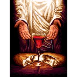 K 7271 Tapestry canvas - Jesus Christ - Bread and Wine