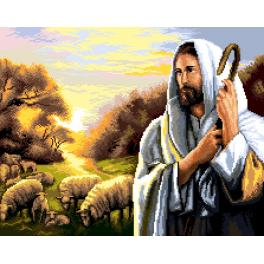 GC 7277 Cross stitch pattern - Jesus Christ with sheep