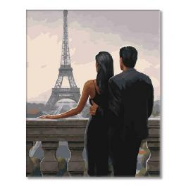 SI mes7160 Painting by numbers - Gaze at the Eiffel Tower