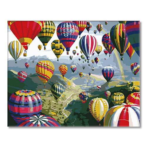 SI Ms8872 Painting by numbers - Balloon flight