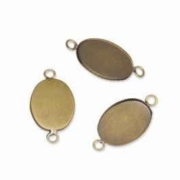 Medallion base oval bronze